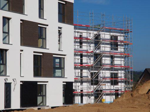 Echafaudages à Fétigny pour projet de logements Sémoret Parc