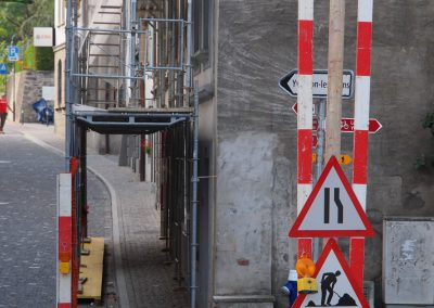Echafaudage tunnel pieton