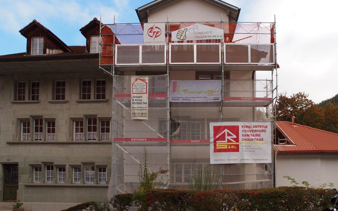 Echafaudages d'une maison à Fribourg, Planche inférieure