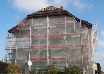 Echafaudage Moudon Hôtel Gare