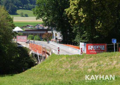 Echafaudages suspendu pont Ecublens
