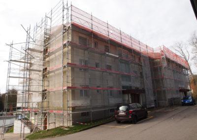 Echafaudages immeuble rénovation Vallon